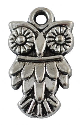 Owl Antique Silver Charms Pack of 5